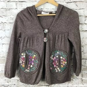 Anthropologie sleeping on snow embroidered sweater